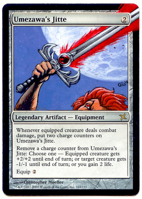Umezawa's Jitte MTG Magic the Gathering altered art Thundercats artwork Thundercats Comic
