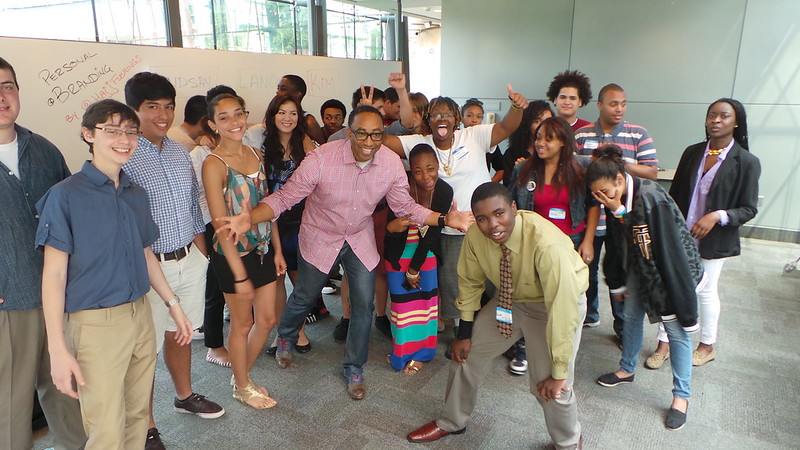 Hajj Flemings and Students at nexusEQ at Harvard