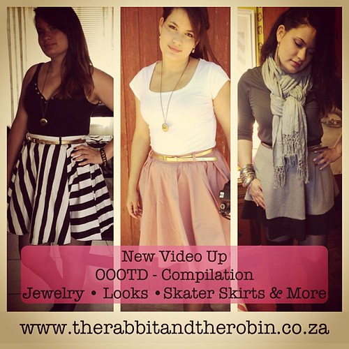 New Video Up! OOTD Compilation. Jewelry, Looks, Skater Skirts & More.  #jewelry #mrp #mrprice #edgars #skaterskirt #winter #ootd #lookoftheday #outfitoftheday #honeysong #diva #makeup #rimmel #yde #helloprettysa #onlineshop #wingedgirl #fashion #style #sa