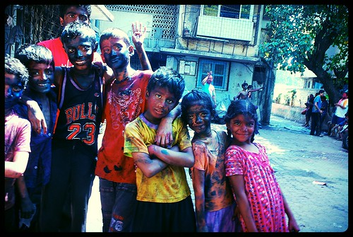 Holi At Bandra Bazar Road Shot By Marziya Shakir  3 Year Old by firoze shakir photographerno1