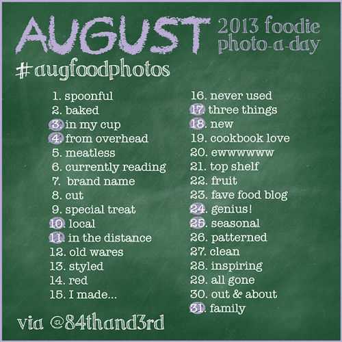 August 2013 Food Photo-a-Day Challenge