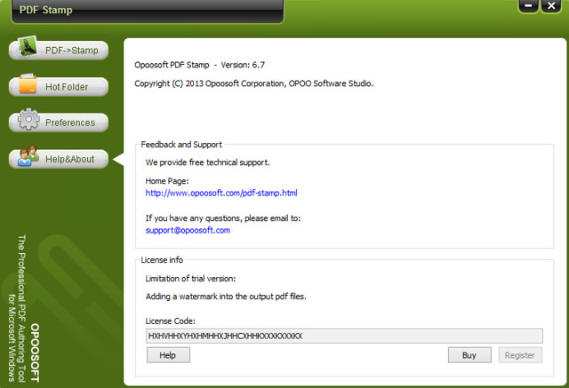 OpooSoft PDF Stamp 6.7
