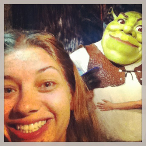At Madame Tussaud's (shrek)
