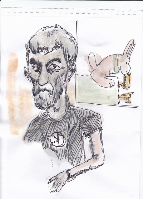 Scott Renton's Sketch of Peter Murray Rust's Pecha Kucha