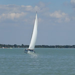 Yacht on Lake Balaton