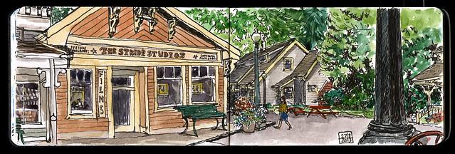 Burnaby Village Museum, street scene