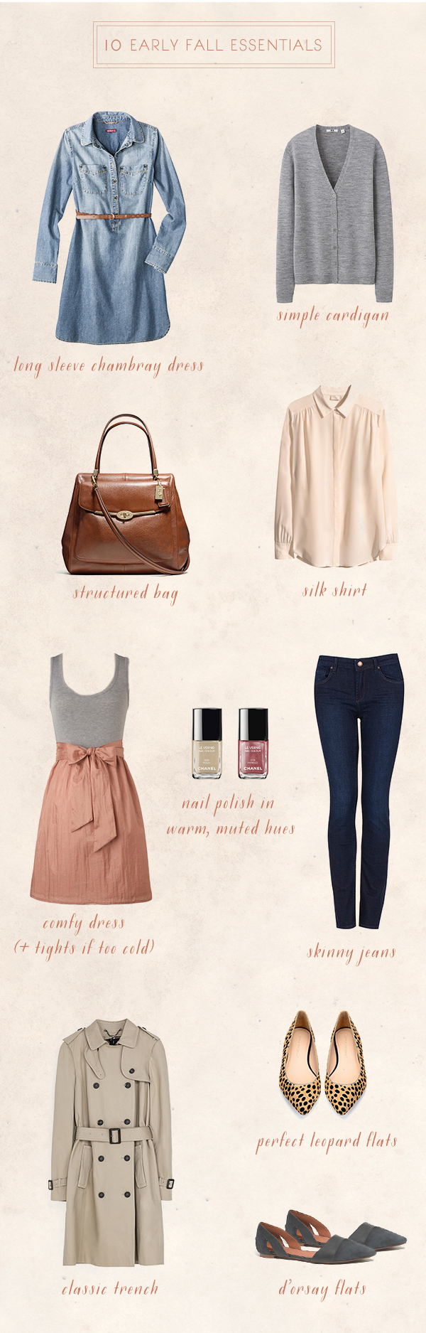10 Early Fall Essentials