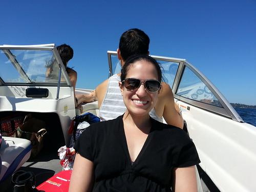 Maria on Speedboat