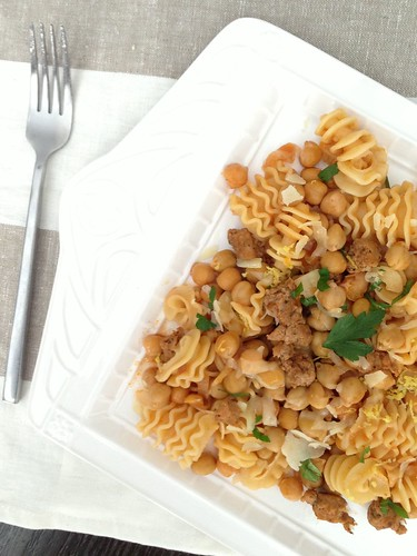 Pasta with Chorizo and Chickpeas Jen