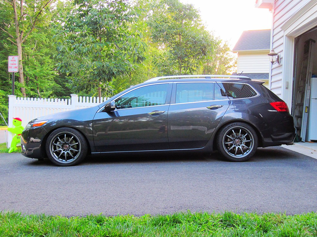 B D Cfe B on acura tsx wagon lowered