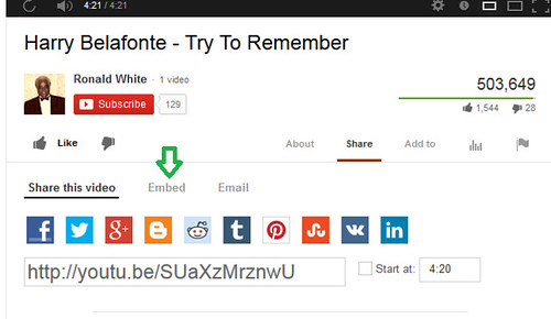 YouTube pre-embed screen 2