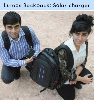 Environment--lumos solar backpack