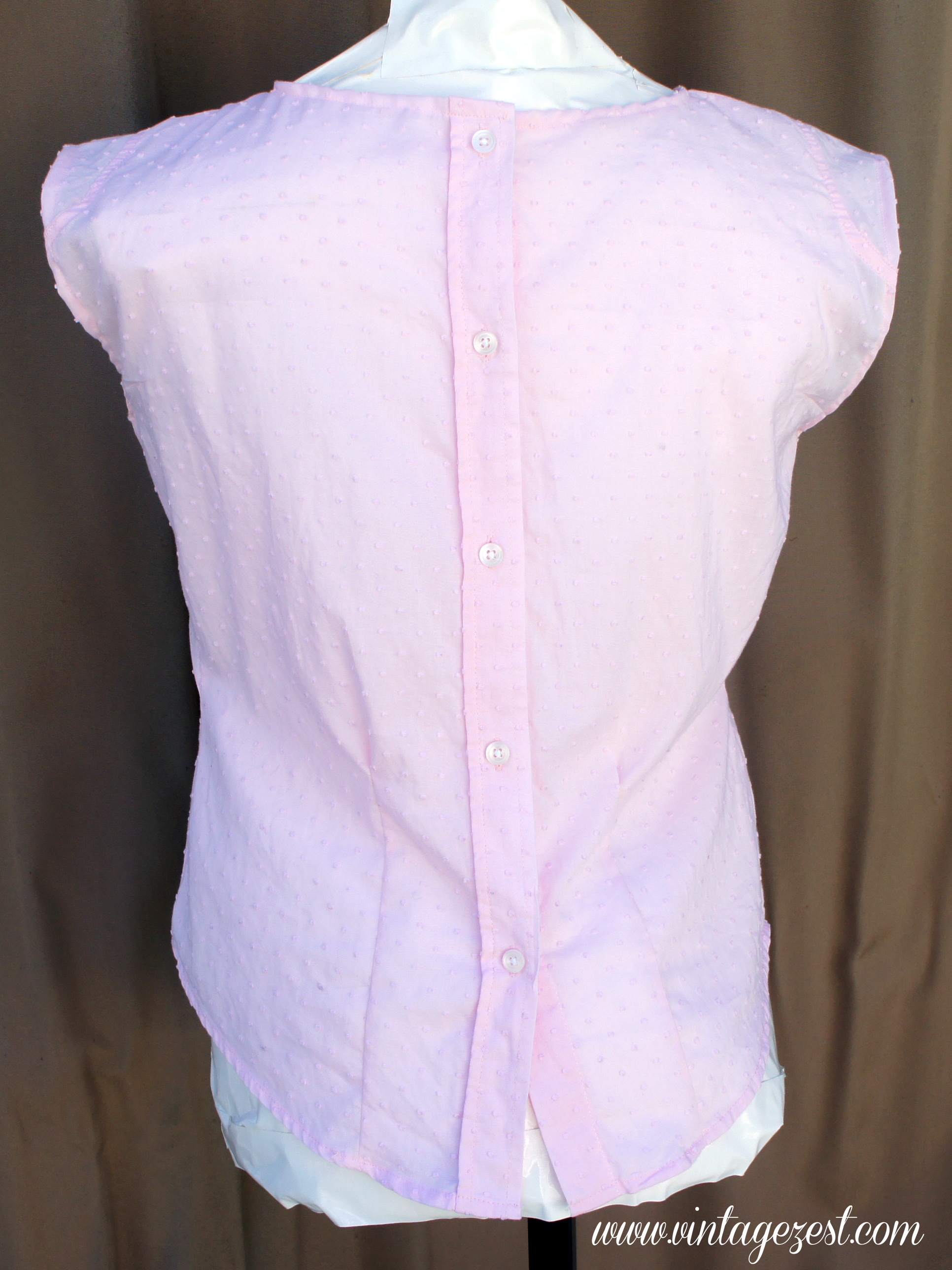 Refashioned Pink Portrait Blouse 4