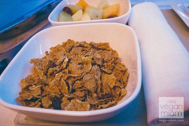 Vegan Cereal & Soy Milk @ Air New Zealand Business Premier