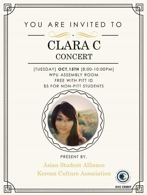 Clara C concert Pitt
