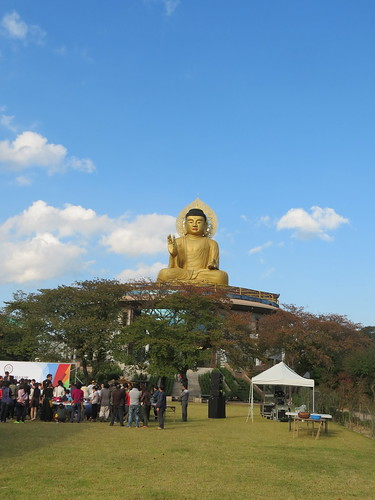 Big Gold Buddha at Hongbeopsa Temple