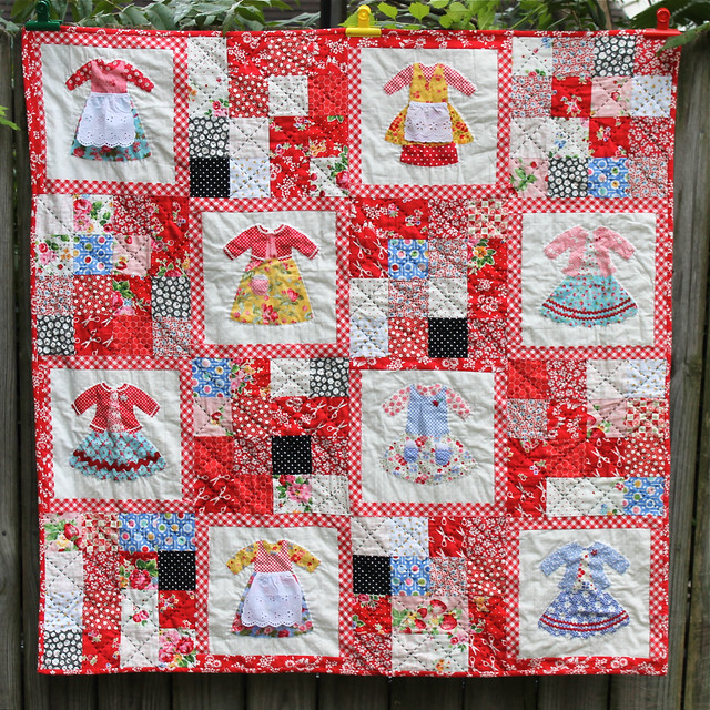 Dolly Dress Up Quilt Finished