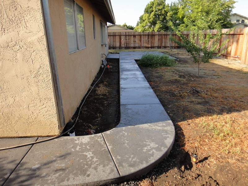 Salt Finish Walkway To Patio In West Sacramento CA - Salt Finish Walkway To Patio In West Sacramento CA - Solano County