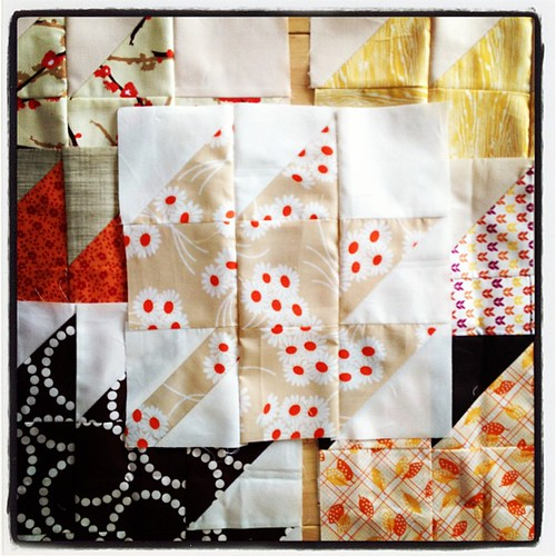 Half done with my #modernmaples blocks (this is some of them) and have the other half cut out & ready to sew.  #tmssews #tmsfall13