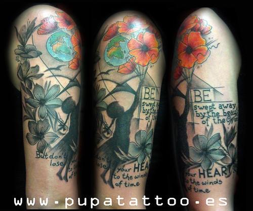 Tatuaje Flores Pupa Tattoo Granada by Marzia PUPA Tattoo