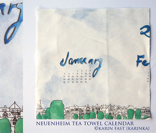 neuenheim tea towel by karinka on spoonflower