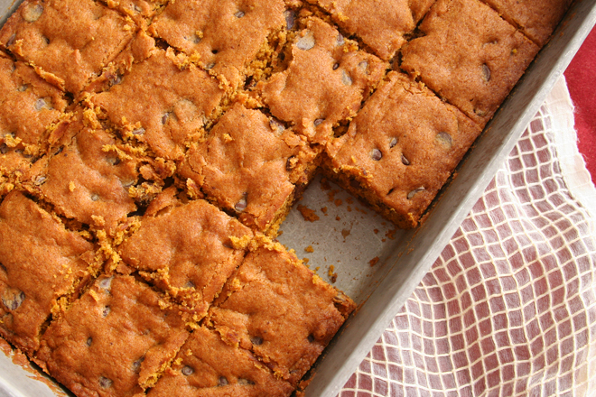 pumpkin chocolate chip bars 4