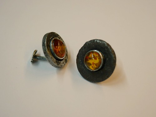 Amber And Iron Cufflinks - 2