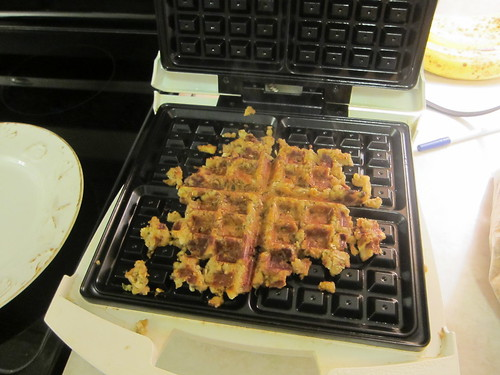 Extra stuffing meets waffle iron