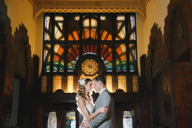 Wedding photos at the Marine Building in Vancouver