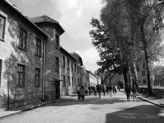 Entering Auschwitz I