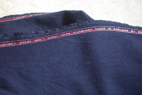 Navy wool cashmere