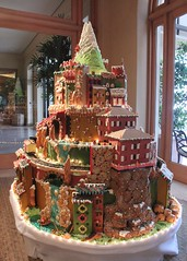 gingerbread house, cake, christmas decoration, gingerbread, food, cake decorating,