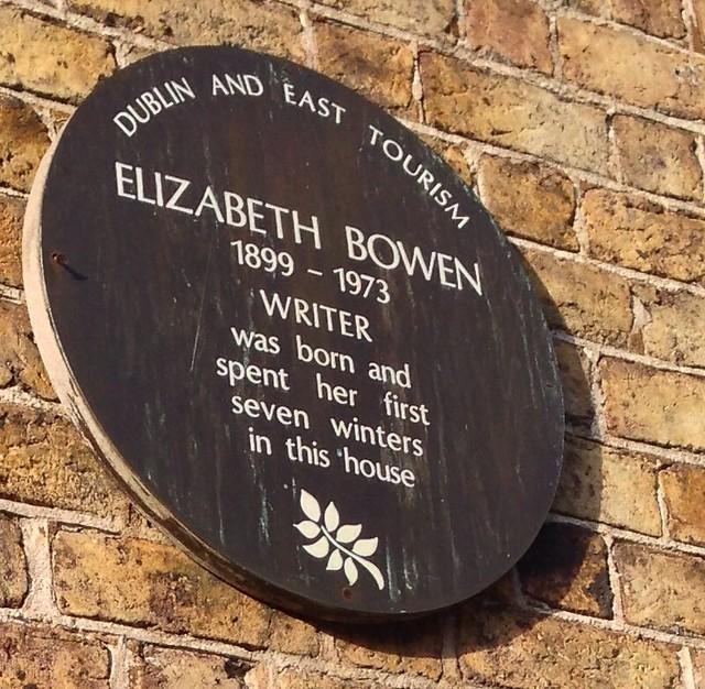 Photo of Elizabeth Bowen brown plaque