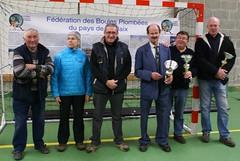 05/01/2014 - Plouezoc'h : Les finalistes du concours de boules plombées en triplettes mêlées