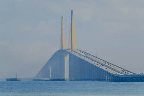 Marine Layer rolling through Sunshine Skyway Bridge - Timelapse 10 /11