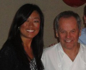 Pamela Sorensen and Wolfgang Puck