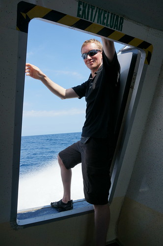On the fast boat from Bali to Gili Trawangan.