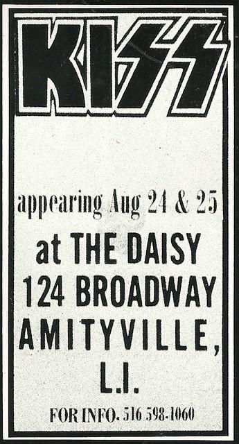 08/24 - 25/73 Kiss @ The Daisy, Amityville, Long Island, NY
