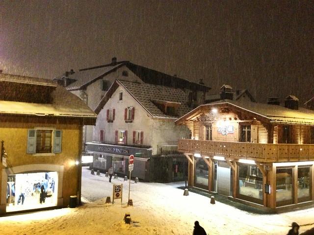 Snowing at Chamonix