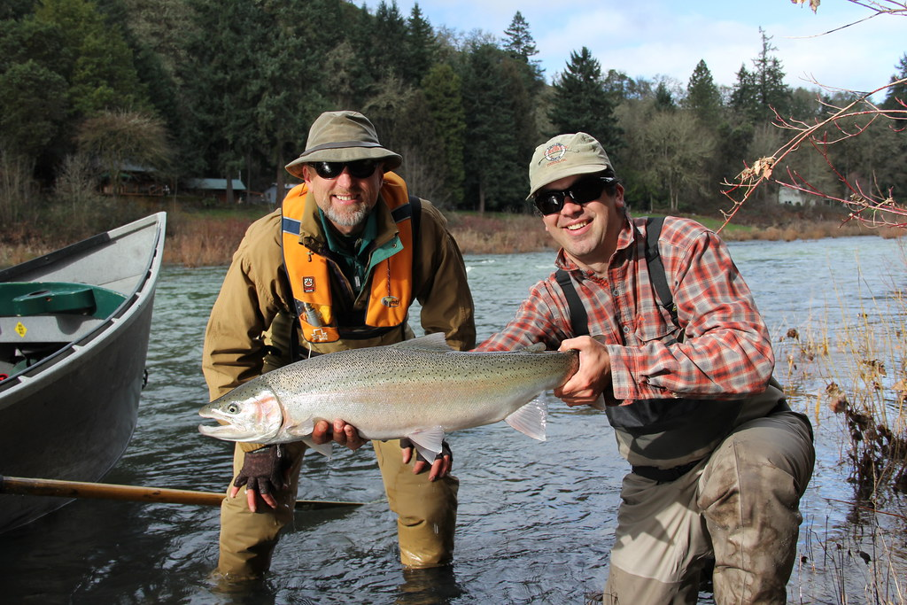 Guided winter steelhead trips prime time the caddis fly for Guided fishing trips in oregon