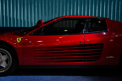 race car, automobile, wheel, vehicle, automotive design, ferrari testarossa, ferrari s.p.a., land vehicle, luxury vehicle, supercar, sports car,