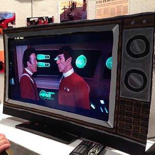 Watching the Wrath of Khan on a retro tv at #GalaxyFest. / on Instagram http://instagram.com/p/kuajA3smhM/