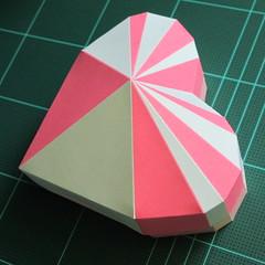 วิธีทำโมเดลกระดาษเป็นกล่องของขวัญรูปหัวใจ (Heart Box Papercraft Model) 018