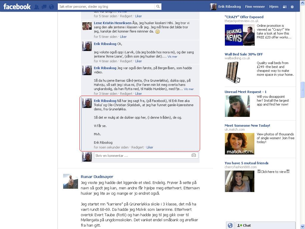 facebook skjelsbek ree