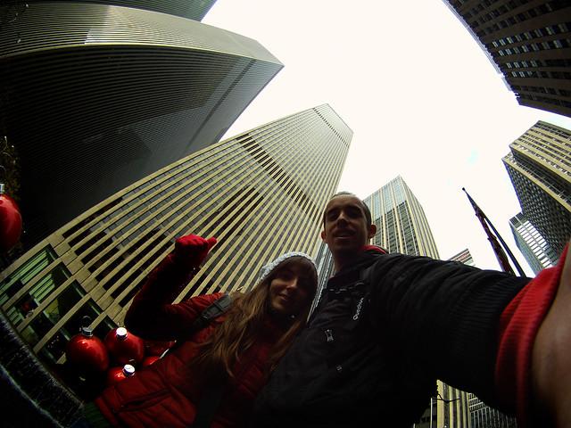 A los pies de los rascacielos de Nueva York