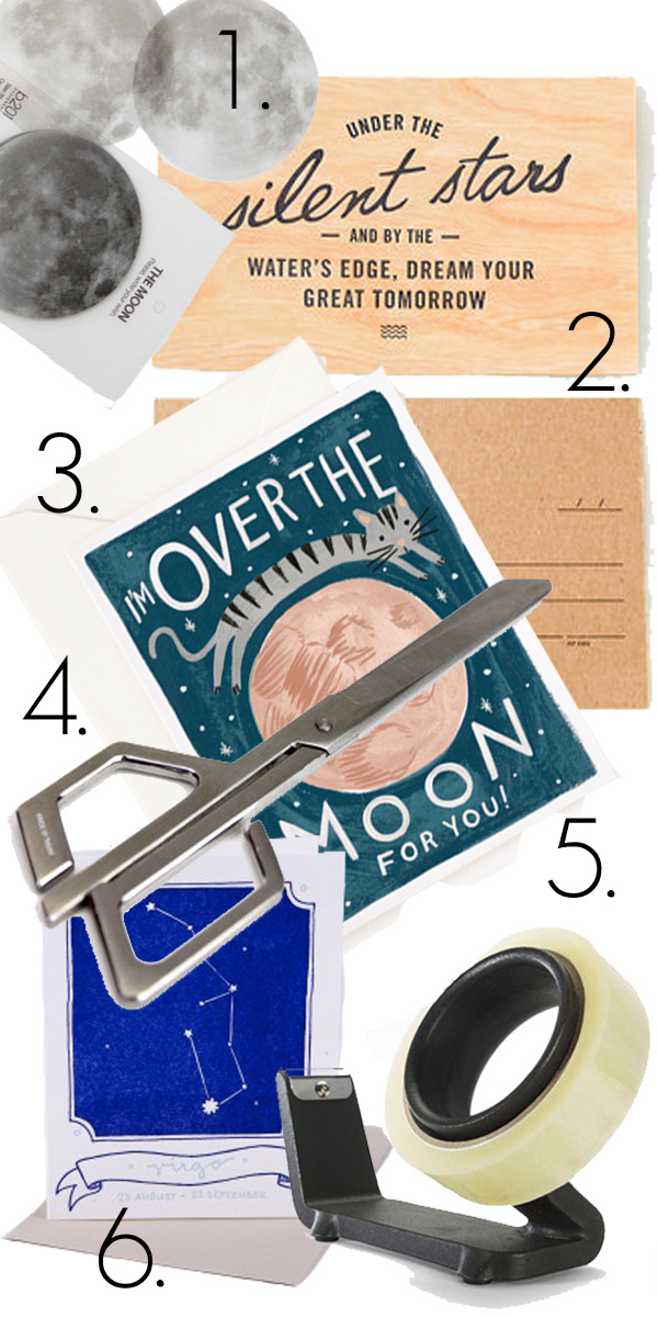 Moon, stars, stationary, desk items, wish, list, withoutastyle, never fully dressed,