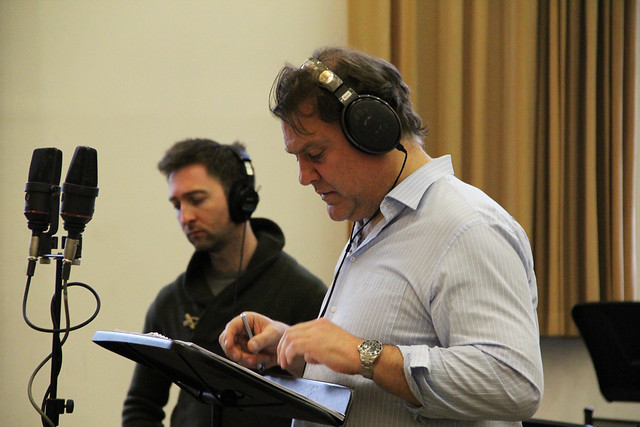 Bryn Terfel in a recording session for The Crackle © ROH / Lottie Butler 2014