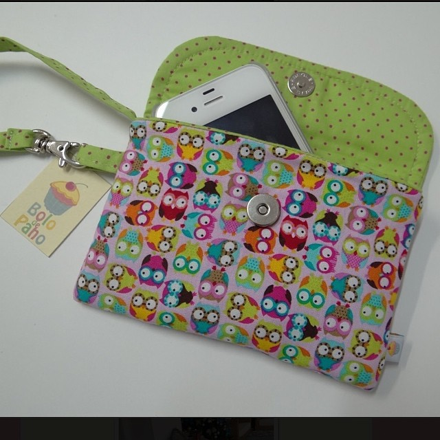 Bolsa De Mão Em Tecido Passo A Passo : Mini bolsinha de m?o by bolo pano cabe o celular