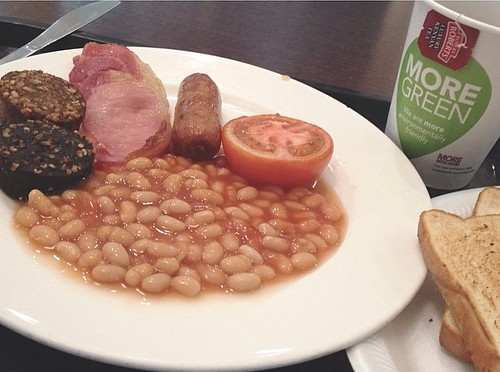 Why, yes, I am having breakfast in the Dublin airport. How can you tell? #irishbreakfastftw