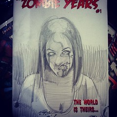 Amazing #Zombie Years #sketchcover by @jdekal done at MIDNIGHT SANDWICH @cinebistro #dolphinmall #comics